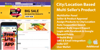 Multi City Multi Seller eCommerce(Multi Vendor)