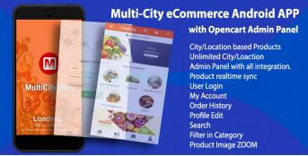 Multi-City eCommerce Android APP with Admin Panel
