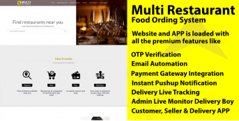 Restaurant or Store Ordering Website & APP with Delivery Live Tracking