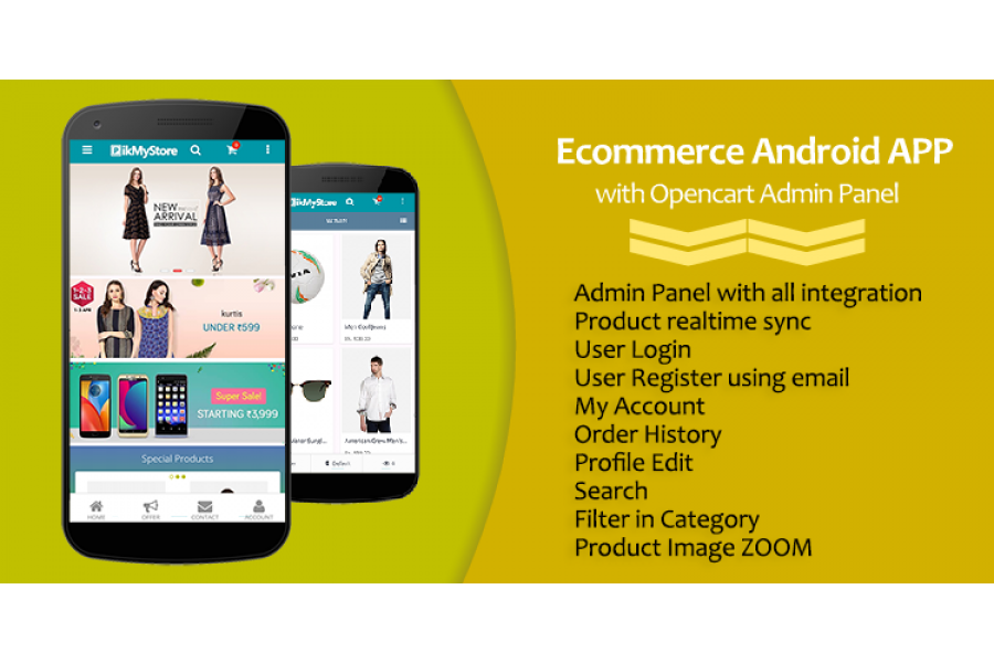 Ecommerce Android APP with Opencart Admin Panel