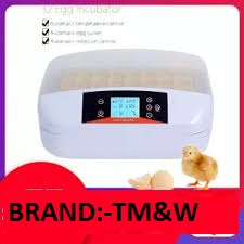 TM&W Best Automatic 32 Digital Clear Egg Incubator Hatcher, 80W Egg